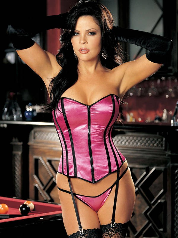 Sexy Satin Corset And G-string Set