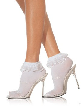 Ankle Socks With Lace Ruffle Top