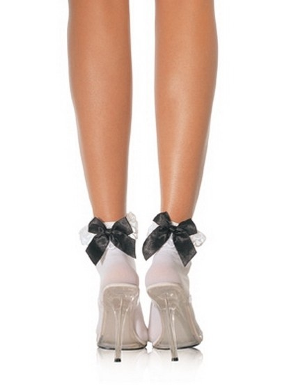 Ruffle Bow Ankle Socks