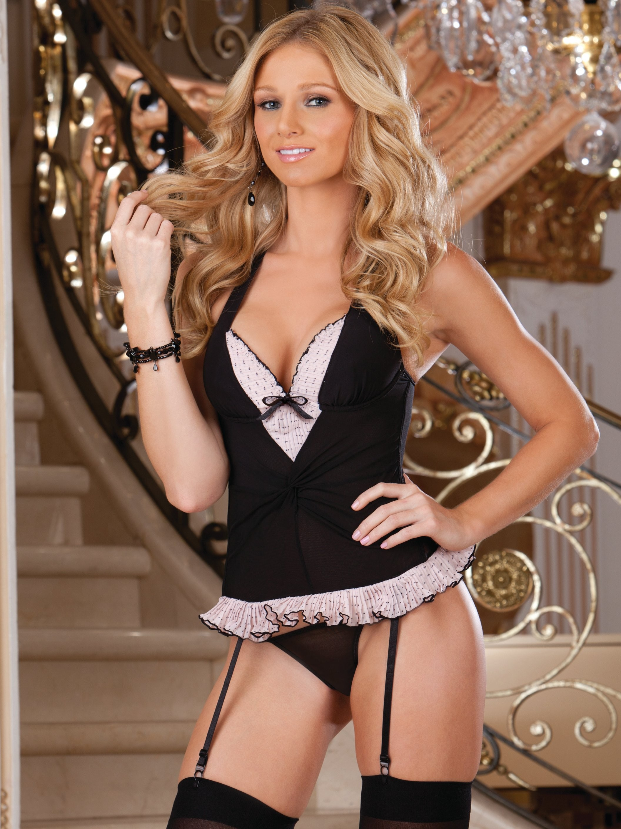 Stretch Mesh 4 PC Bustier Set