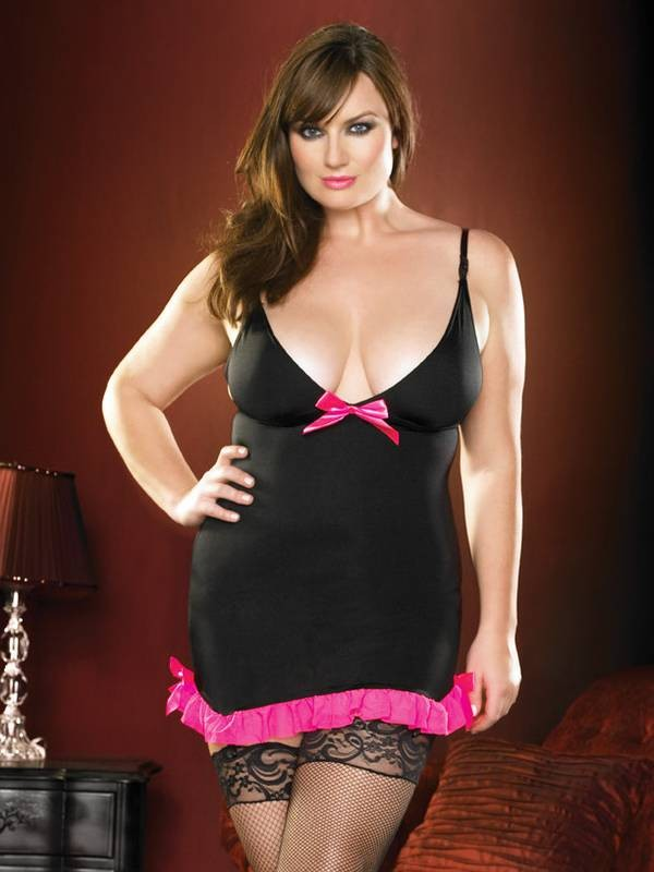 Plus Size Lycra Garter Dress