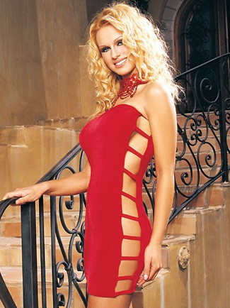 Slinky Tube Dress With Open Side