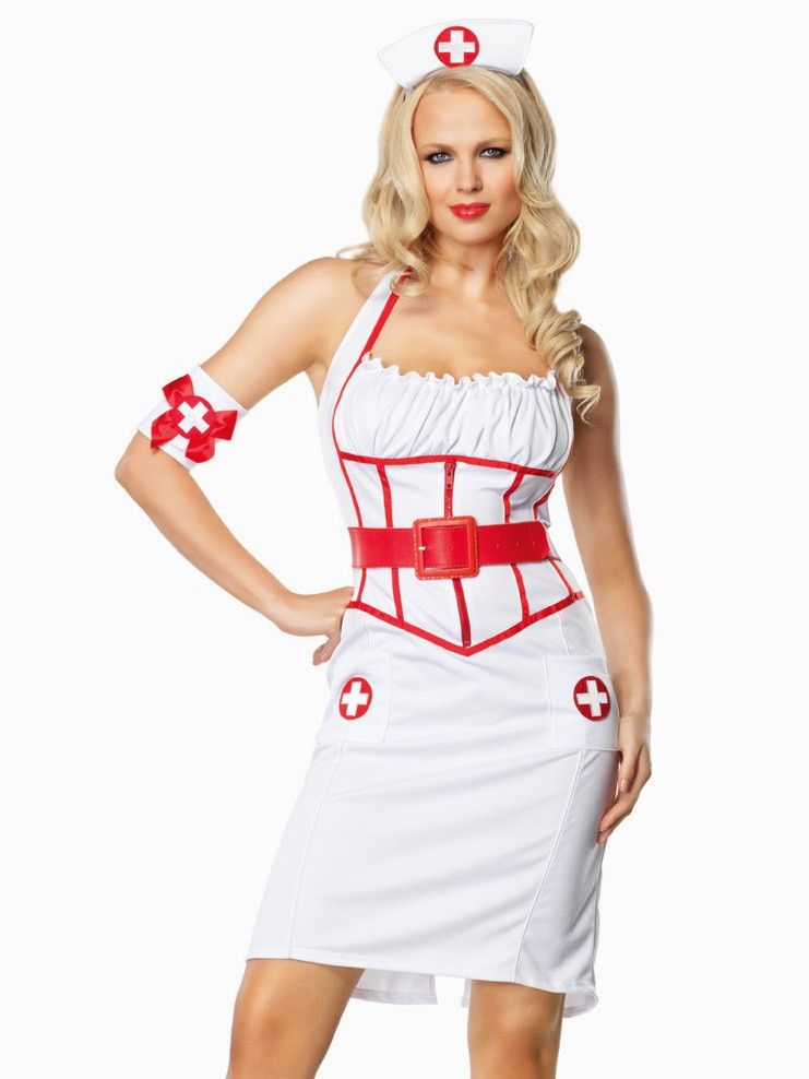 3 PC On Call Nurse Costume