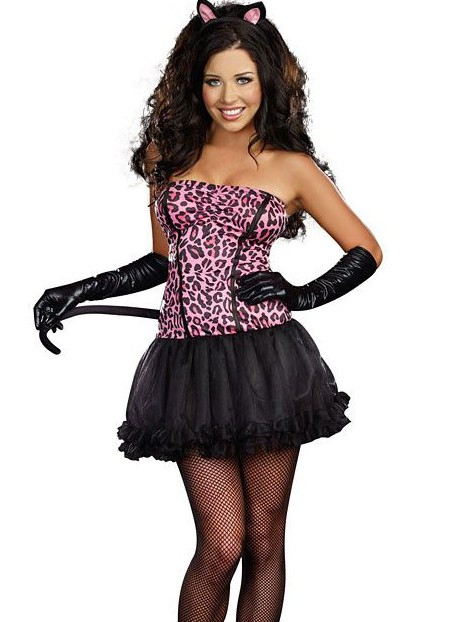Kiss Me Kitty 3 PC Costume