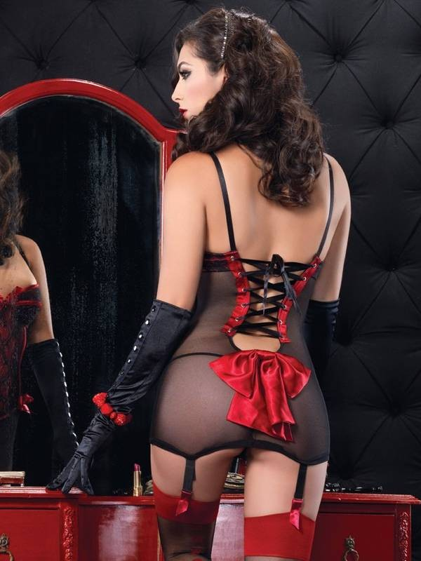 2 PC Corset Dress Set