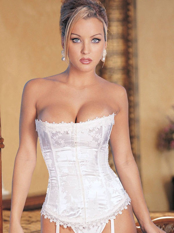 Stunning Floral Tapestry Strapless Corset