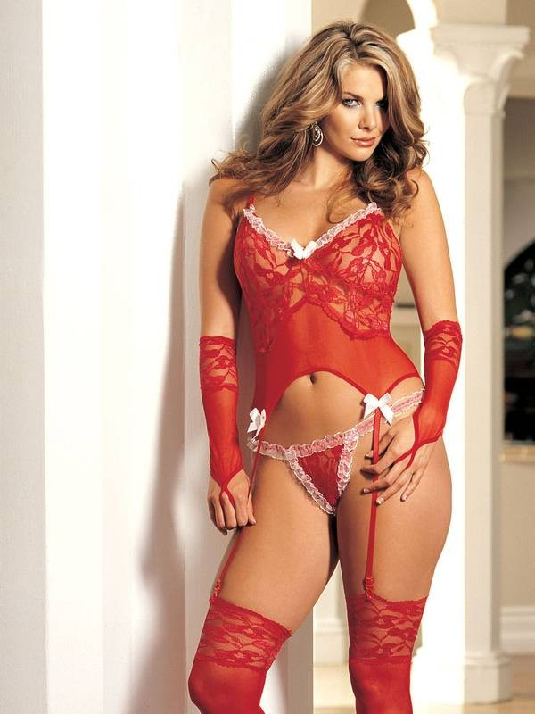 Sexy Lace 4 PC Bustier Set