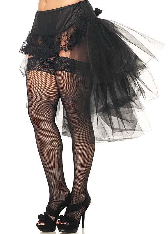 Plus Size Tulle Bustle Skirt