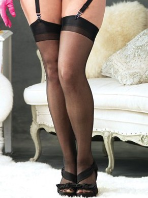 Plus Size Sheer Stockings