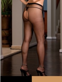 PLUS SIZE Crotchless Pantyhose