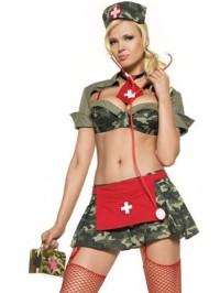 6 PC Army Nurse Costume
