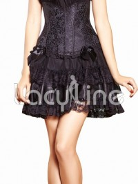 Double Layered Lace Trimmed Skirt
