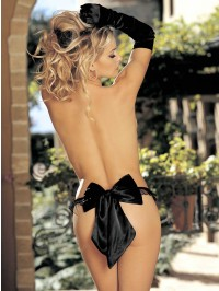 Charmeuse And Big Bow Thong