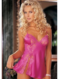 Charmeuse Lace  Babydoll With Thong