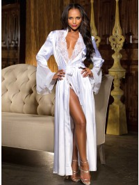 Hollywood Glamour Charmeuse Log Robe