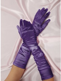 Long Satin Spandex Gloves