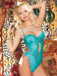 Stretch Lace Underwired Teddy