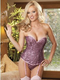 All Over Sequin Corset Set