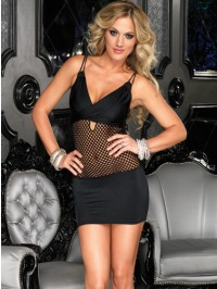 Net Center Mini Dress