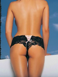 Lace Tanga Short With Lace Up Back