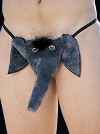 Faux Fur Elephant POUCH