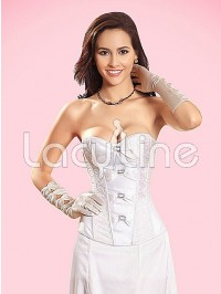 Elegant Satin Corset With Buckles
