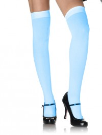 Opaque Nylon Over The Knee Stockings