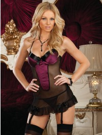 Underwired 3 PC Chemise Set