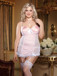 Point D'esprit Garter Slip 2 PC