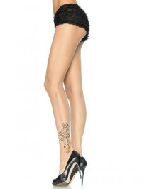 Sheer Tattoo Print Pantyhose