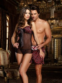Blowin' Kisses 3 PC Babydoll Set