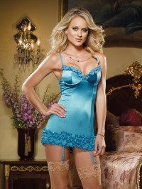 Ruffled Satin 2 PC Slip Set