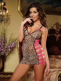 Sweet And Wild 2 PC Chemise Set