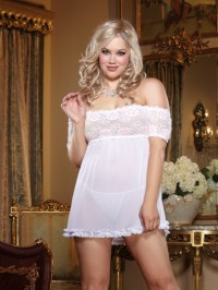 Off The Shoulder 2 PC Babydoll