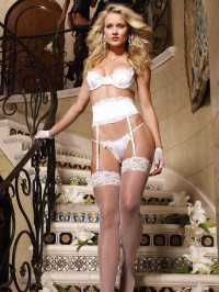 Stretch Satin 3 PC Bridal Set