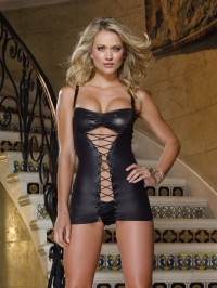 Lace Up Hourglass 2 PC Chemise Set