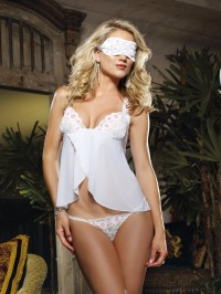 Flyaway Stretch 3 PC Babydoll Set