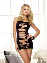 Slash Detail Seamless Dress