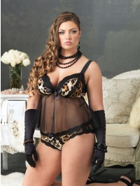 Leopard 2 PC Babydoll Set