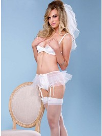 2 PC Sexy Bridal Satin Set