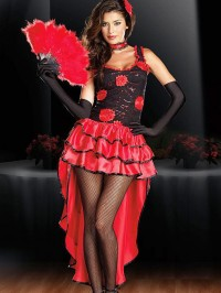 Spanish Flamenco Dancer 4 PC Costume