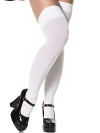 Plus Size Opaque Thigh Highs
