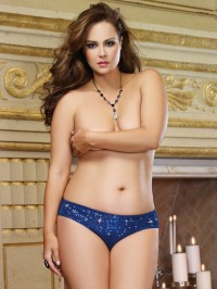 Plus Size Sequined Cheeky