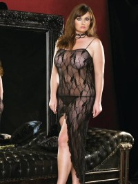 Plus Size Lace Long Gown