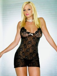 Lace Chemise With Cut Out Back