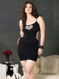 Net Panels Seamless Dress