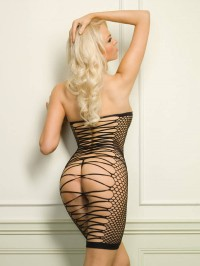 Seamless Dress With Strappy  Back