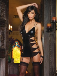 Cut Out Sides Garter Slip Set