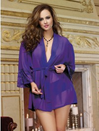 Plus Size Awaken Desires Robe And Cheeky