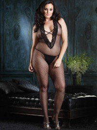 Deep V Front Bodystocking